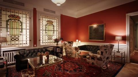Living room area Hotel Esplanade Strandvagen Stockholm